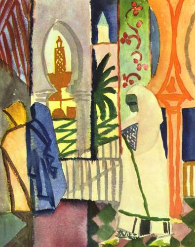 August Macke - In the temple hall [1]